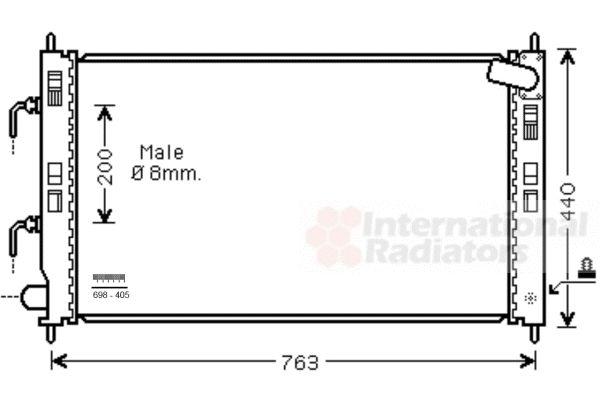 Radiateur, refroidissement du moteur - VAN WEZEL - 32002240