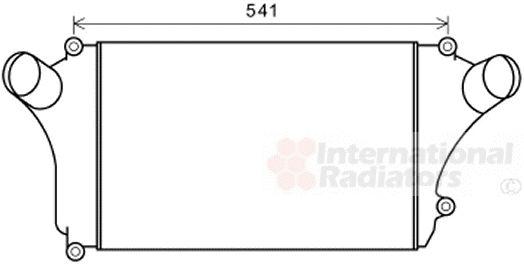 Intercooler, échangeur - VAN WEZEL - 32004246