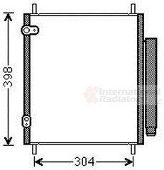 Condenseur, climatisation - VAN WEZEL - 32005244