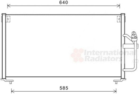 Condenseur, climatisation - VAN WEZEL - 32005245