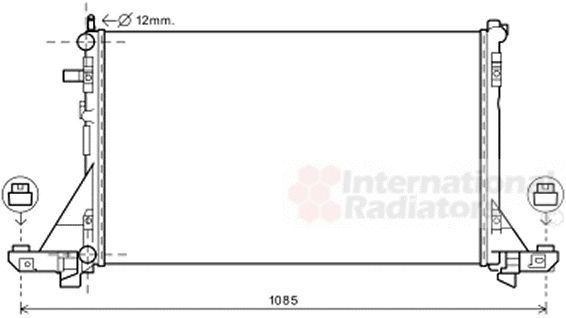Radiateur, refroidissement du moteur - VAN WEZEL - 33002381