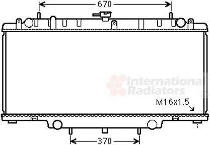 Radiateur, refroidissement du moteur - VAN WEZEL - 33002394