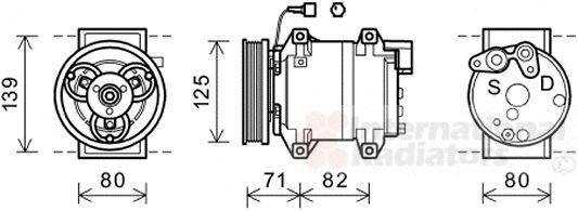 Compresseur, climatisation - VAN WEZEL - 3300K377