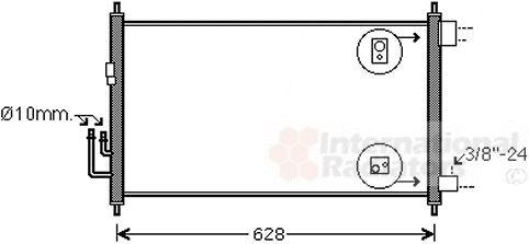 Condenseur, climatisation - VAN WEZEL - 33005372
