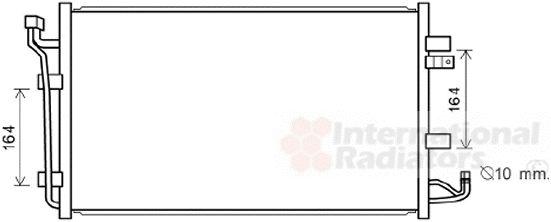 Condenseur, climatisation - VAN WEZEL - 33005387
