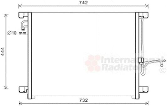 Condenseur, climatisation - VAN WEZEL - 33005392