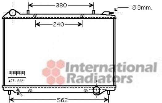 Radiateur, refroidissement du moteur - VAN WEZEL - 37002441