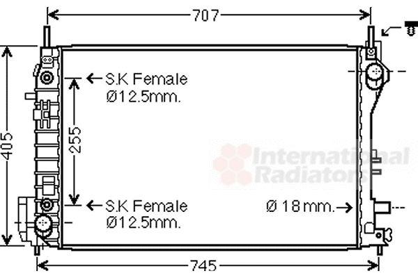 Radiateur, refroidissement du moteur - VAN WEZEL - 37002559