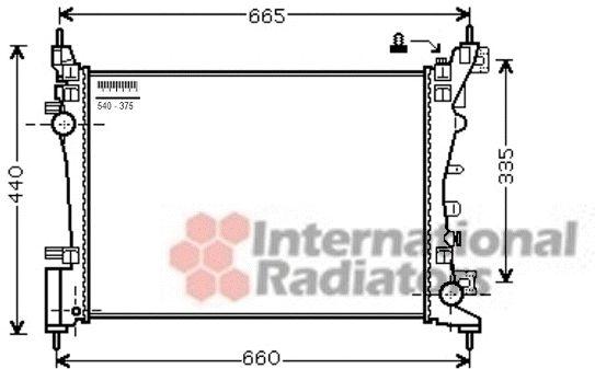 Radiateur, refroidissement du moteur - VAN WEZEL - 37002574