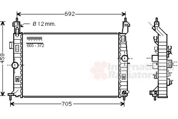 Radiateur, refroidissement du moteur - VAN WEZEL - 37002583