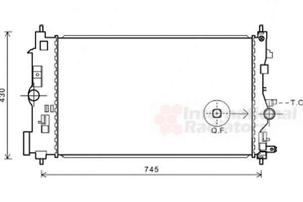 Radiateur, refroidissement du moteur - VAN WEZEL - 37002591