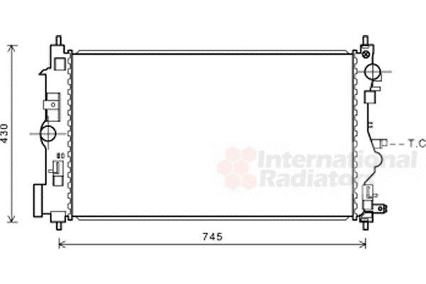 Radiateur, refroidissement du moteur - VAN WEZEL - 37002599
