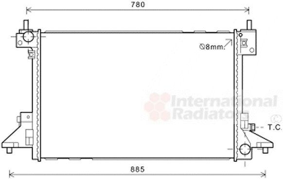 Radiateur, refroidissement du moteur - VAN WEZEL - 37002601
