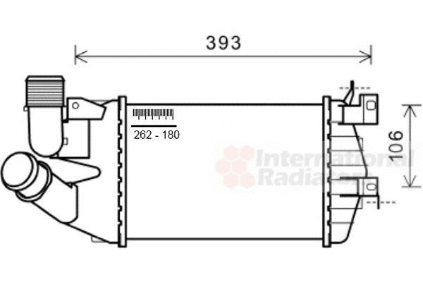 Intercooler, échangeur - VAN WEZEL - 37004584