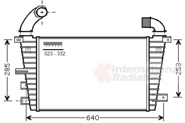 Intercooler, échangeur - VAN WEZEL - 37004585