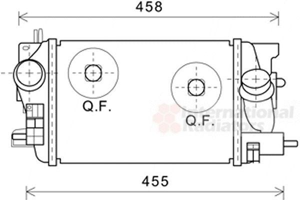Intercooler, échangeur - VAN WEZEL - 37004593