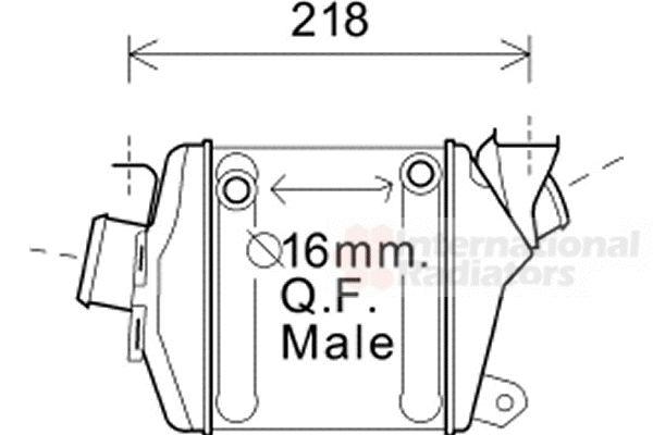 Intercooler, échangeur - VAN WEZEL - 37004598