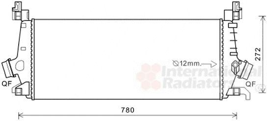Intercooler, échangeur - VAN WEZEL - 37004647
