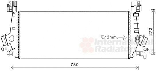 Intercooler, échangeur - VAN WEZEL - 37004648