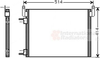 Condenseur, climatisation - VAN WEZEL - 37005587