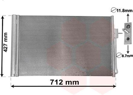 Condenseur, climatisation - VAN WEZEL - 37005611