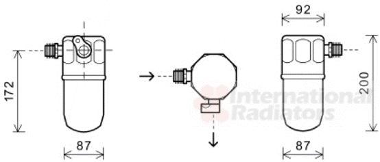 Filtre déshydratant, climatisation - VAN WEZEL - 3700D563
