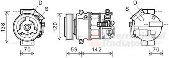 Compresseur, climatisation - VWA - 88VWA3700K579