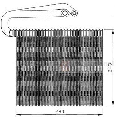 Evaporateur climatisation - VAN WEZEL - 3700V399