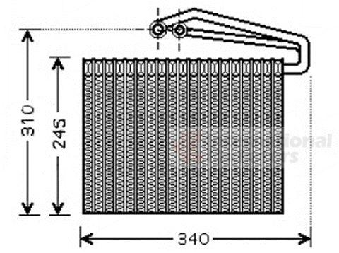 Evaporateur climatisation - VAN WEZEL - 3700V400
