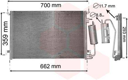 Condenseur, climatisation - VAN WEZEL - 37015397