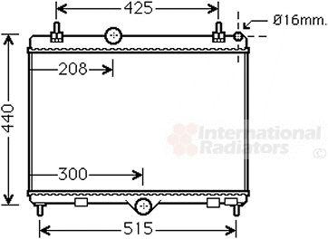Radiateur, refroidissement du moteur - VAN WEZEL - 40002358
