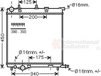 Radiateur, refroidissement du moteur - VAN WEZEL - 40002368