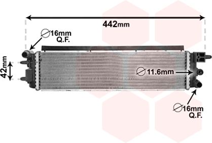 Radiateur, refroidissement du moteur - VAN WEZEL - 40002381