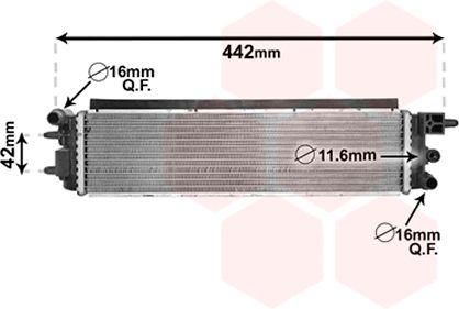 Radiateur, refroidissement du moteur - VWA - 88VWA40002381