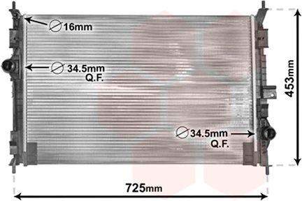 Radiateur, refroidissement du moteur - VAN WEZEL - 40002386