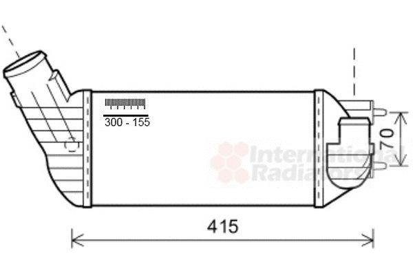 Intercooler, échangeur - VAN WEZEL - 40004360