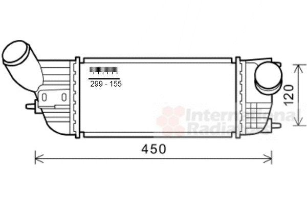 Intercooler, échangeur - VAN WEZEL - 40004362