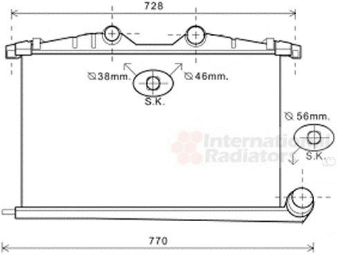 Intercooler, échangeur - VAN WEZEL - 40004363