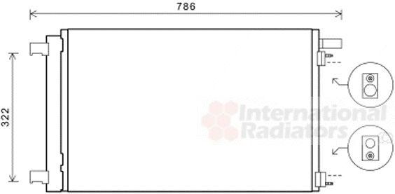 Condenseur, climatisation - VAN WEZEL - 40005364