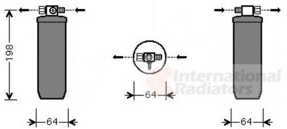 Filtre déshydratant, climatisation - VAN WEZEL - 4000D270