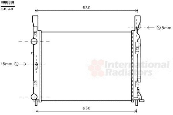 Radiateur, refroidissement du moteur - VAN WEZEL - 43002469