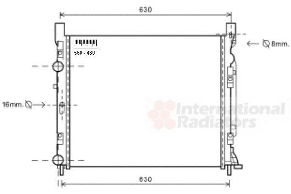 Radiateur, refroidissement du moteur - VAN WEZEL - 43002470