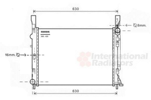 Radiateur, refroidissement du moteur - VWA - 88VWA43002472