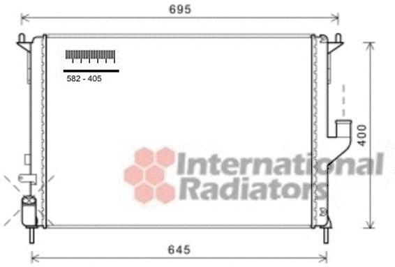 Radiateur, refroidissement du moteur - VAN WEZEL - 43002477