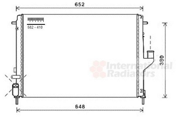 Radiateur, refroidissement du moteur - VAN WEZEL - 43002478