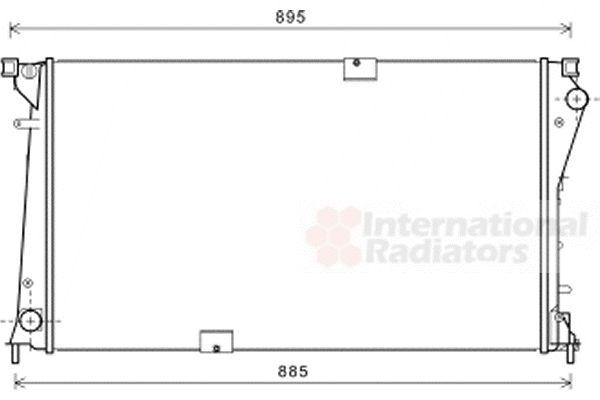 Radiateur, refroidissement du moteur - VAN WEZEL - 43002490