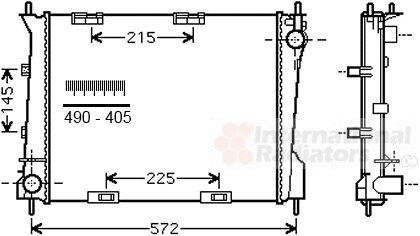 Radiateur, refroidissement du moteur - VAN WEZEL - 43002554
