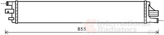 Radiateur, refroidissement du moteur - VAN WEZEL - 43002559