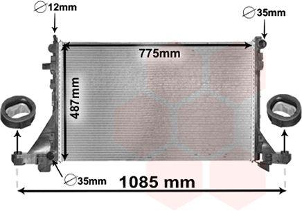 Radiateur, refroidissement du moteur - VAN WEZEL - 43002560