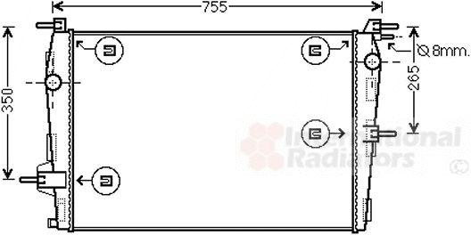 Radiateur, refroidissement du moteur - VAN WEZEL - 43002573